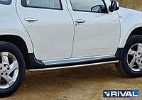 Защита порогов Nissan Terrano 2014- d42