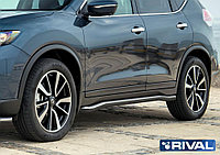 Защита порогов Nissan X-Trail 2015+ d57