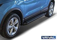 "Пороги на Nissan X-Trail 2015-2018 ""Black"""