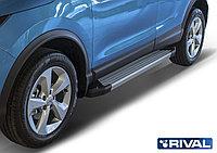 """Пороги на Nissan X-Trail 2015-2018 """"Silver"""""""
