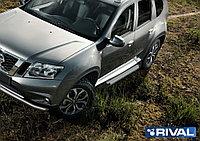 "Пороги на Renault Duster 2010+  ""Silver"""