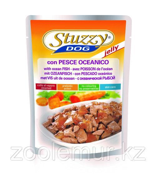 Stuzzy Dog консервы в пауче для собак (с океанической рыбой в желе) 100 гр.