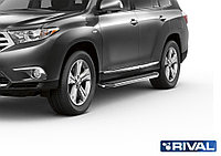 """Пороги на Toyota Highlander 2007-2014  """"Premium"""""""