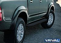 "Пороги на Toyota Hilux 2005-2015  ""Premium-Black"""