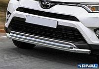 Защита переднего бампера Toyota Rav 4 2015- d57+d42