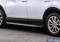"""Пороги на Toyota Rav 4 2015- """"Premium"""""""