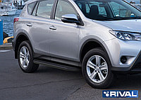 "Пороги на Toyota Rav 4, Long 2006-2013  ""Premium-Black"""