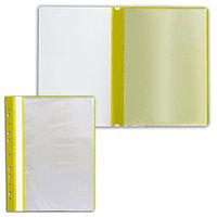Папка с файлами с прозрачной обложкой 10 листов желтый