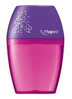Точилка с контейнером Maped Shaker (на один карандаш) розовый