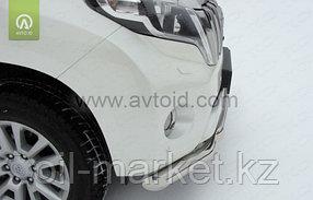 Защита переднего бампера двойная для Toyota Land Cruiser Prado 150 (2009-2017г), фото 2