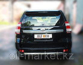Защита заднего бампера для Toyota Land Cruiser Prado 150 (2009-2017г)