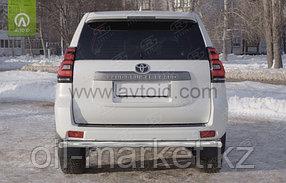 Защита заднего бампера  длинная одинарная для Toyota Land Cruiser Prado 150 (2009-2017г), фото 2