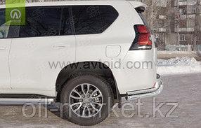 Защита заднего бампера  длинная двойная с уголками для Toyota Land Cruiser Prado 150 (2009-2017г), фото 2