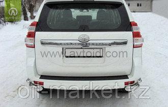 Защита заднего бампера уголки двойные для Toyota Land Cruiser Prado 150 (2009-2017г)