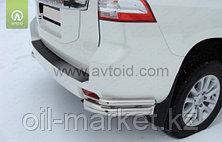 Защита заднего бампера уголки двойные для Toyota Land Cruiser Prado 150 (2009-2017г), фото 2