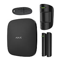 Комплект беспроводной сигнализации Ajax Hub kit чёрный