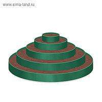 Клумба гибкая, 5 ярусов, d = 40 60 80 100 120 см, h = 60 см, зелёная