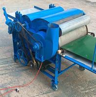 Универсальная чесальная машина для шерсти и хлопка 50 кг в час