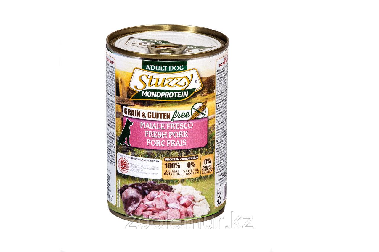 Stuzzy Monoprotein консервы для собак, свежая свинина 400г