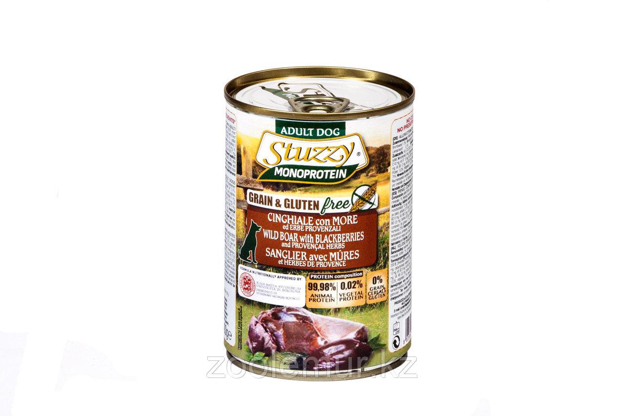 Stuzzy Monoprotein консервы для собак, кабан с ежевикой и прованскими травами400г