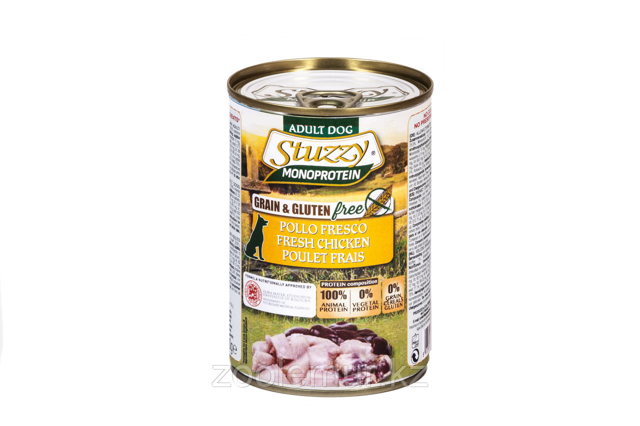 Stuzzy Monoprotein консервы для собак, свежая курица 800г
