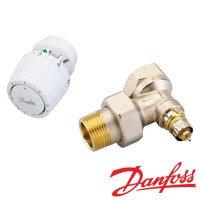 Комплект терморегулирующего оборудования/Комплект терморегулятора угловой в блистере RA-N/RA2994 Ду15 для двухтрубной системы 013G2173 Danfoss