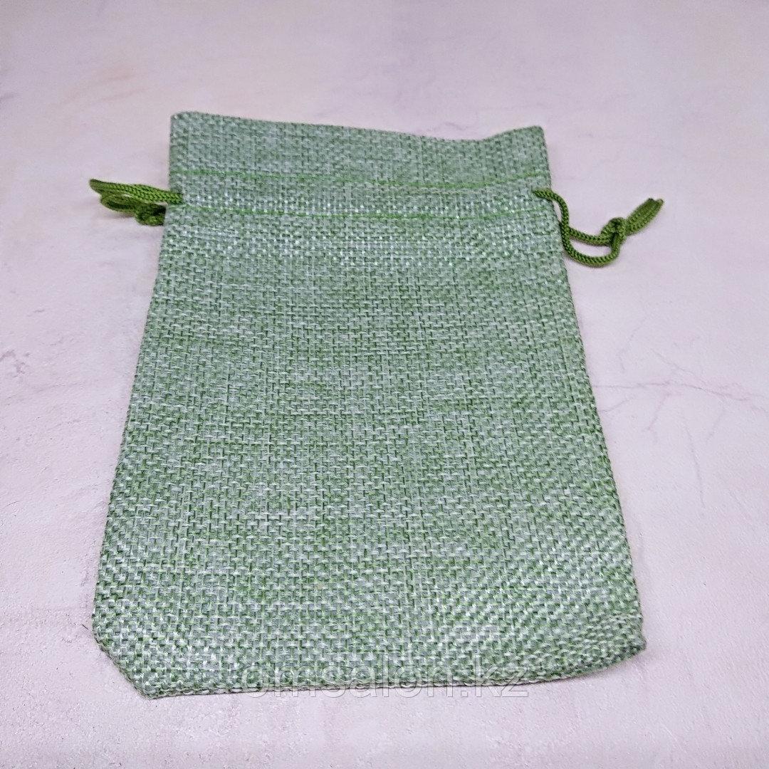 Мешочек холщовый, зеленый, 13*10см