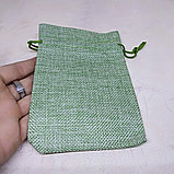 Мешочек холщовый, зеленый, 13*10см, фото 2