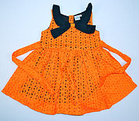 Платье для девочки в дырочку с бантом