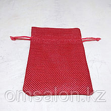 Мешочек холщовый, красный, 12*9см