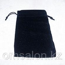 Мешочек бархатный, черный, 14*10см