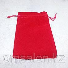 Мешочек бархатный, красный, 14*10см