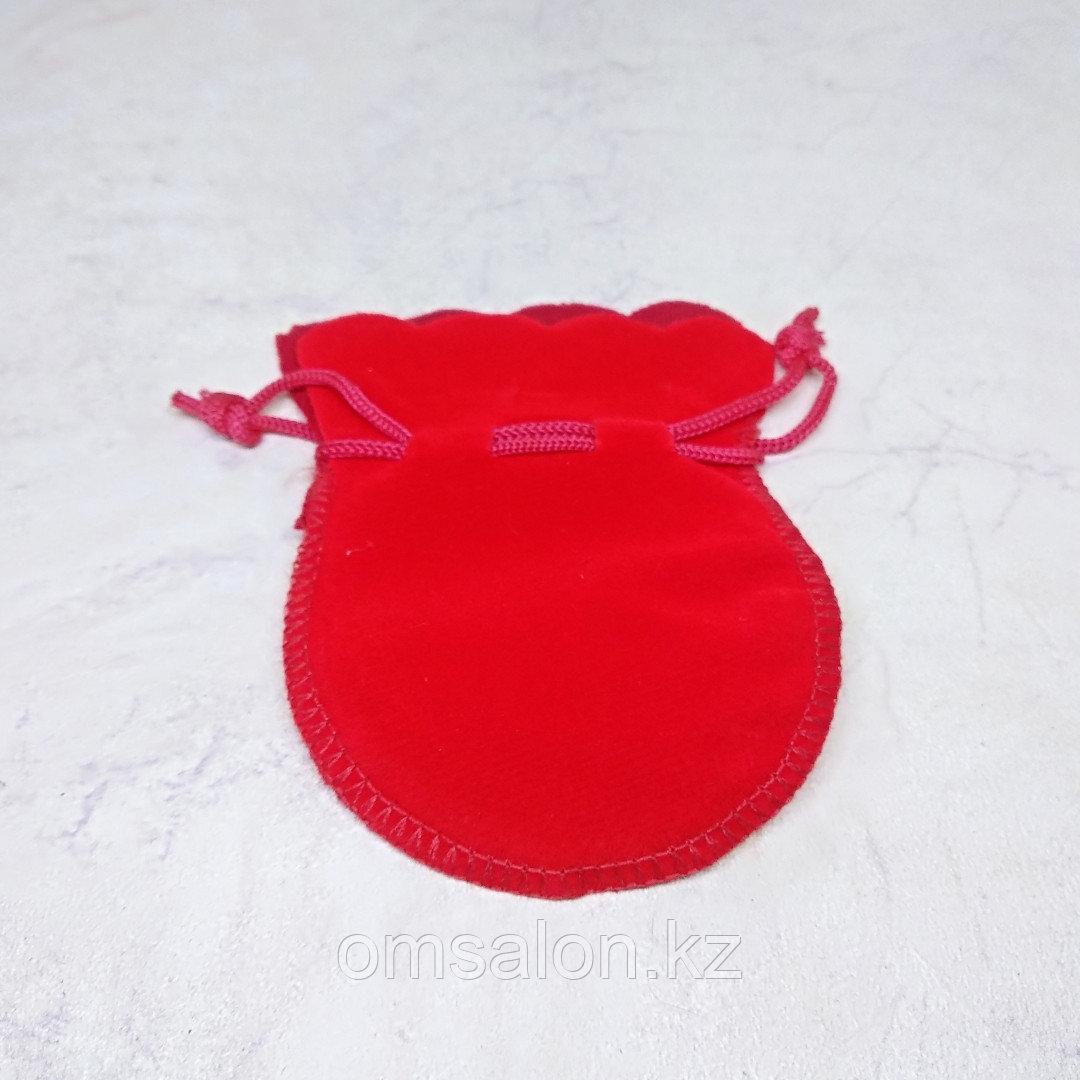 Мешочек бархатный, красный, 9*7см
