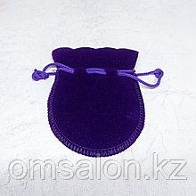 Мешочек бархатный, фиолетовый, 9*7см