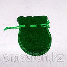 Мешочек бархатный, зелёный, 9*7см