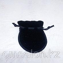 Мешочек бархатный, черный, 9*7см