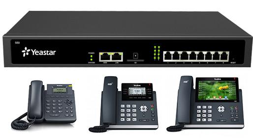 IP АТС Yeastar S50 + IP телефоны
