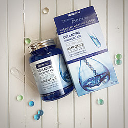 Многофункциональная ампульная сыворотка FarmStay Collagen & Hyaluronic Acid All-in-one Ampoule