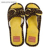 Тапочки женские DW-O-8-001-09, цвет жёлтый, размер 38/39
