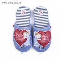 Тапочки женские арт. 2609 W-ASС-W , цвет голубой, размер 38
