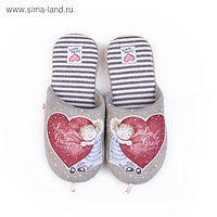 Тапочки женские арт. 2609 W-ASС-W , цвет бежевый, размер 36