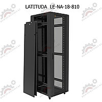 Шкаф серверный напольный LATITUDA 18U, 800*1000*899мм, цвет черный, передняя  дверь стеклянная