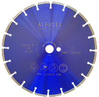 Сегментный диск по бетону (Laser) цвет : синий 350D-40L-2.8T-10W-24S-32/25.4/20H