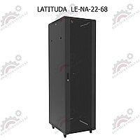 Шкаф серверный напольный LATITUDA 22U, 600*800*1075мм, цвет черный, передняя дверь стеклянная