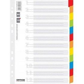 Разделитель 227х297мм, 12л, 250гр, бумажный, цветной