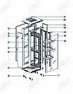 Шкаф серверный напольный  LATITUDA 18U, 600*800*899мм, цвет черный, передняя  дверь стеклянная, фото 4