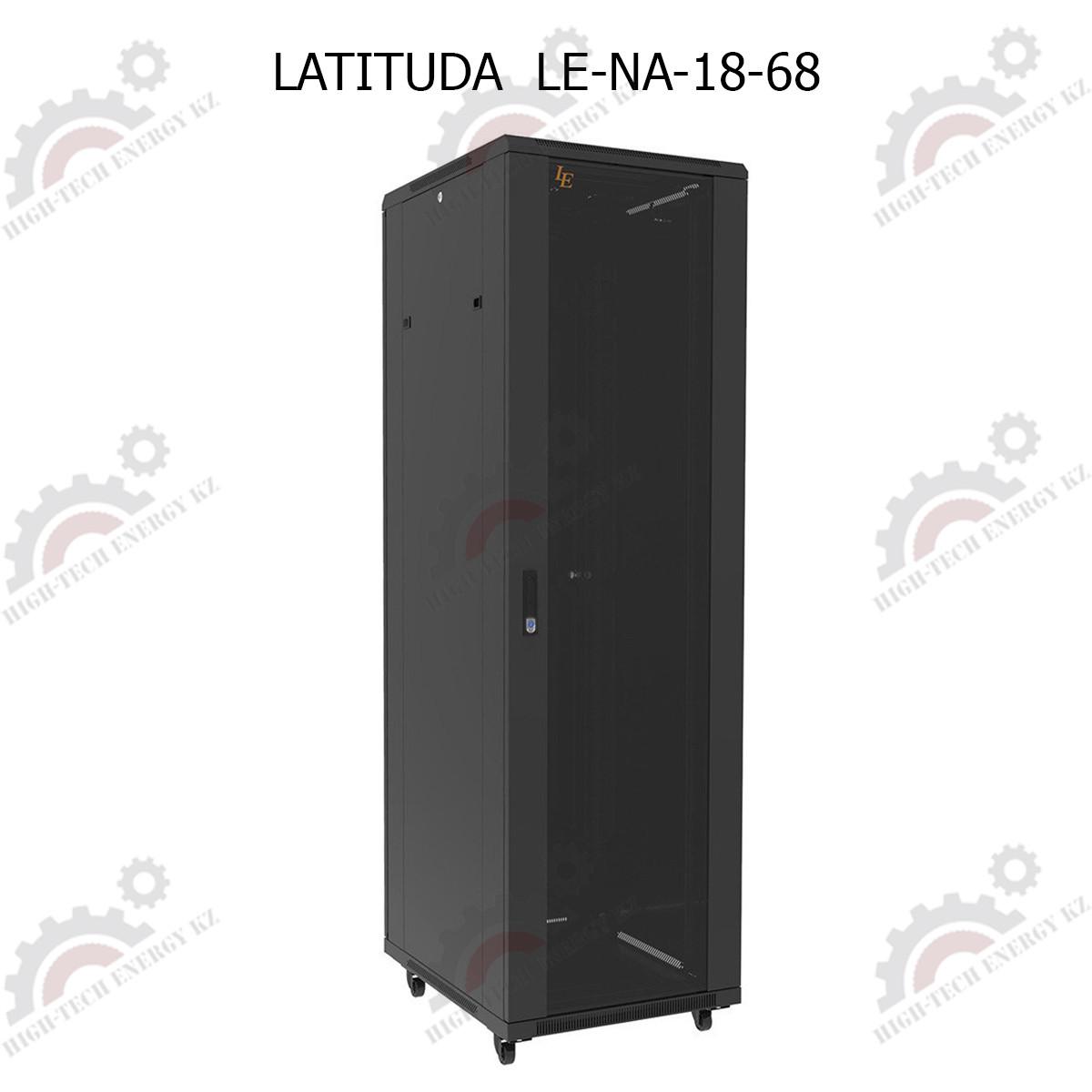Шкаф серверный напольный  LATITUDA 18U, 600*800*899мм, цвет черный, передняя  дверь стеклянная