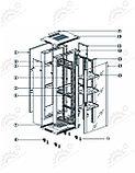 Шкаф серверный напольный  LATITUDA 27U, 600*800*1297мм, цвет черный, передняя  дверь стеклянная, фото 4