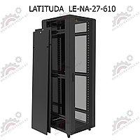 Шкаф серверный напольный LATITUDA 27U, 600*1000*1297мм, цвет черный, передняя дверь стеклянная