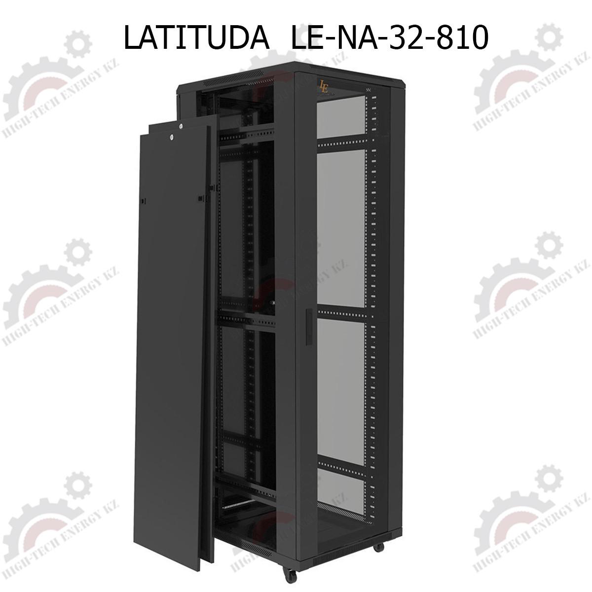 Шкаф серверный напольный LATITUDA 32U, 800*1000*1517мм, цвет черный, передняя дверь стеклянная
